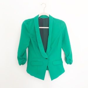 Maurices Kelly Green Button Front Blazer